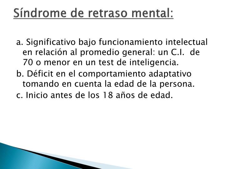 Síndrome de retraso mental: