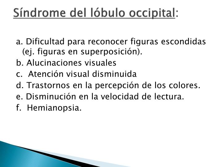Síndrome del lóbulo