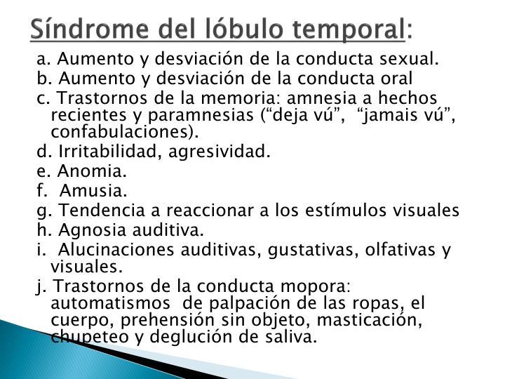 Síndrome del lóbulo temporal