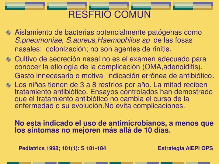 RESFRIO COMUN