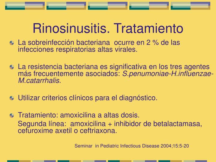 Rinosinusitis. Tratamiento