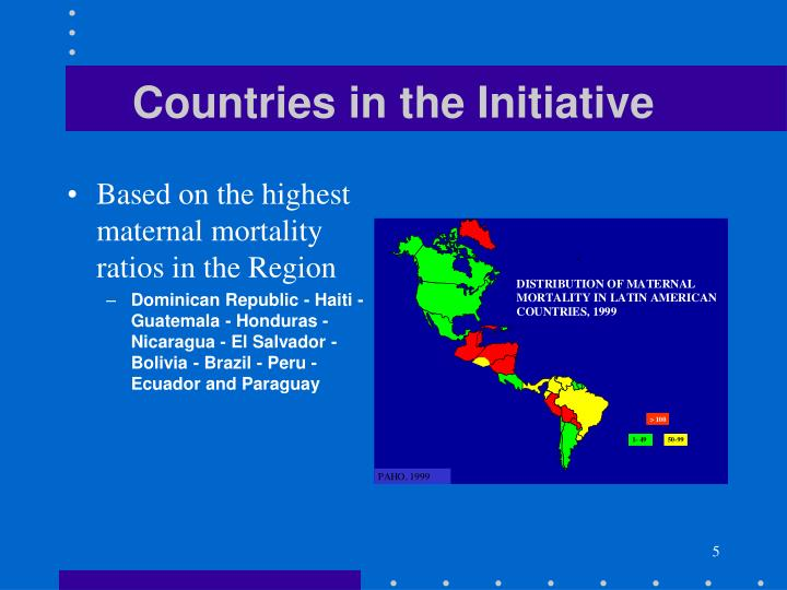 Countries in the Initiative