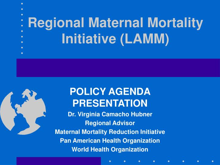 Regional maternal mortality initiative lamm