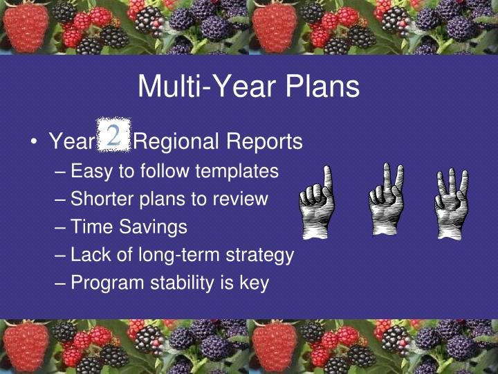 Multi-Year Plans