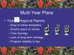 multi year plans