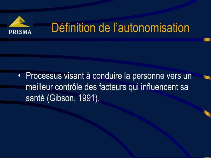 Définition de l'autonomisation