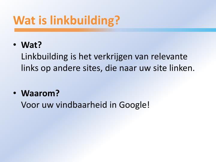 Wat is linkbuilding l.jpg
