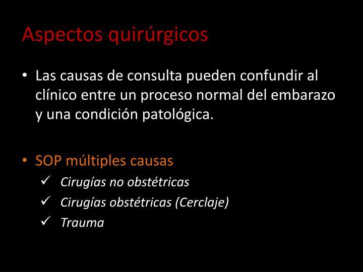 Aspectos quirúrgicos