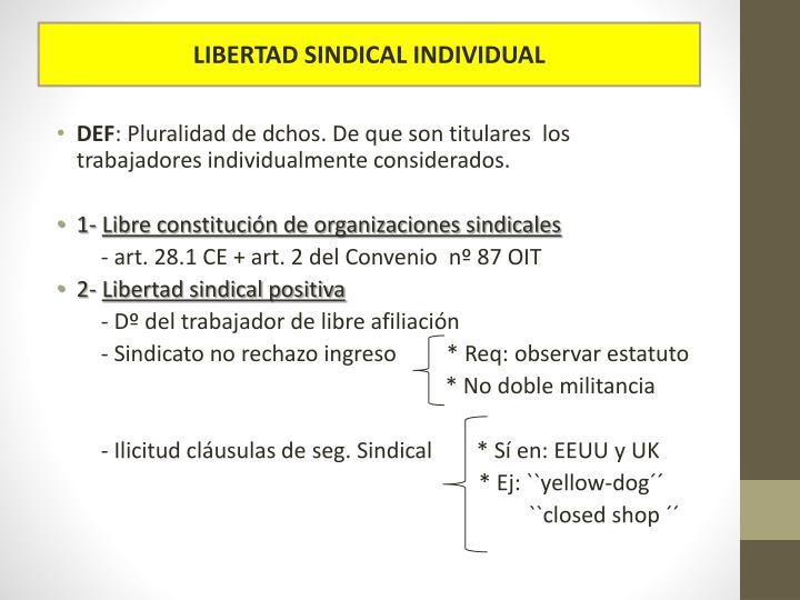 LIBERTAD SINDICAL INDIVIDUAL