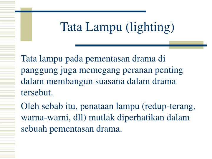 Tata Lampu (lighting)