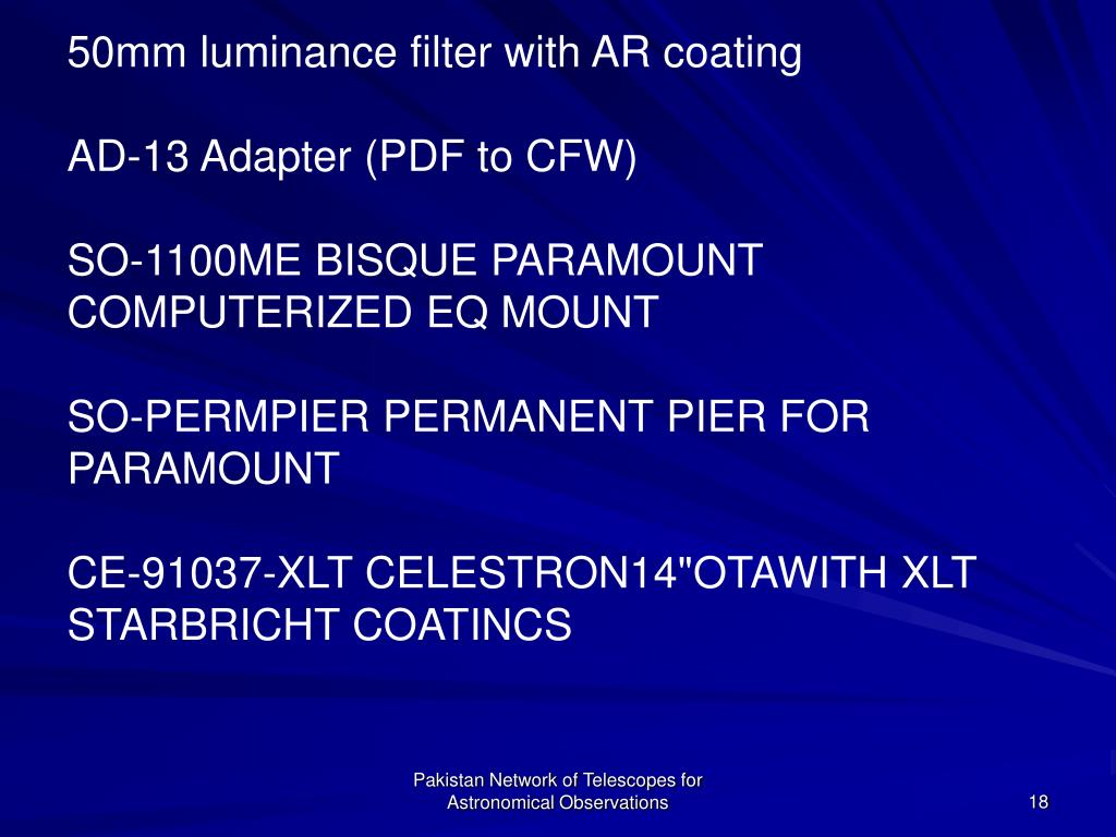 50mm luminance filter with AR coating