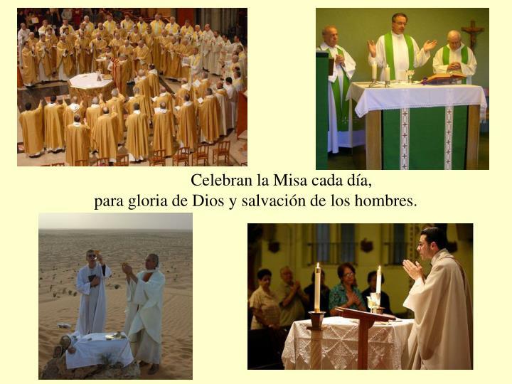 Celebran la Misa cada día,