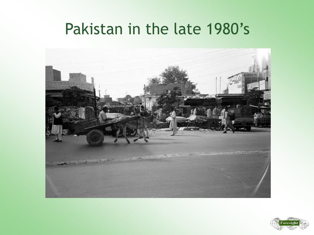 Pakistan in the late 1980's