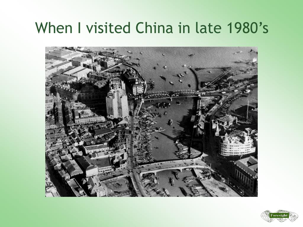 When I visited China in late 1980's