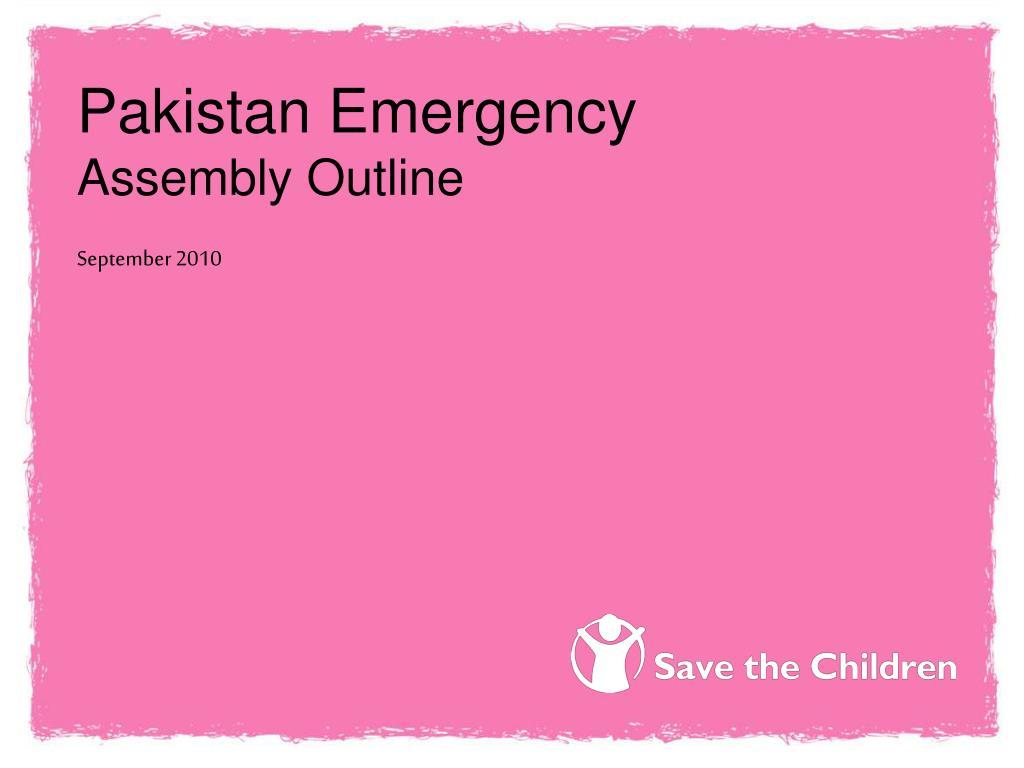 Pakistan Emergency