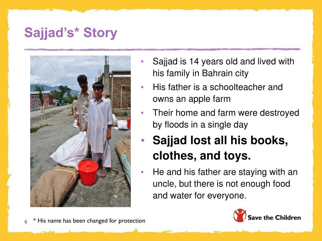 Sajjad's* Story