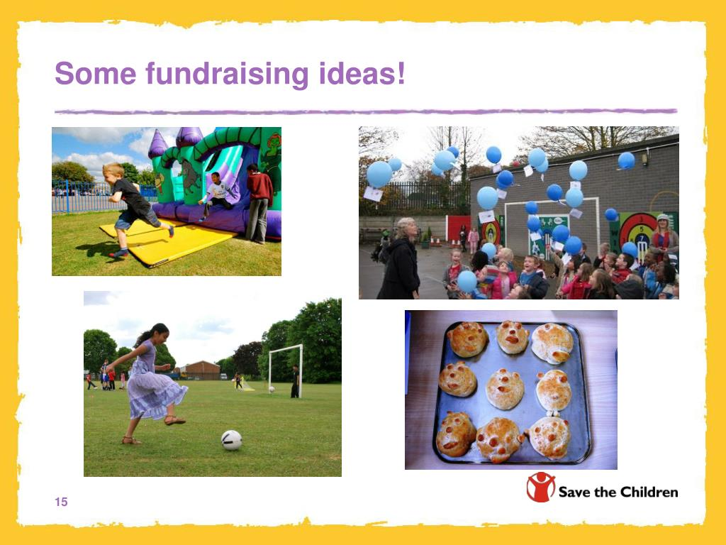 Some fundraising ideas!