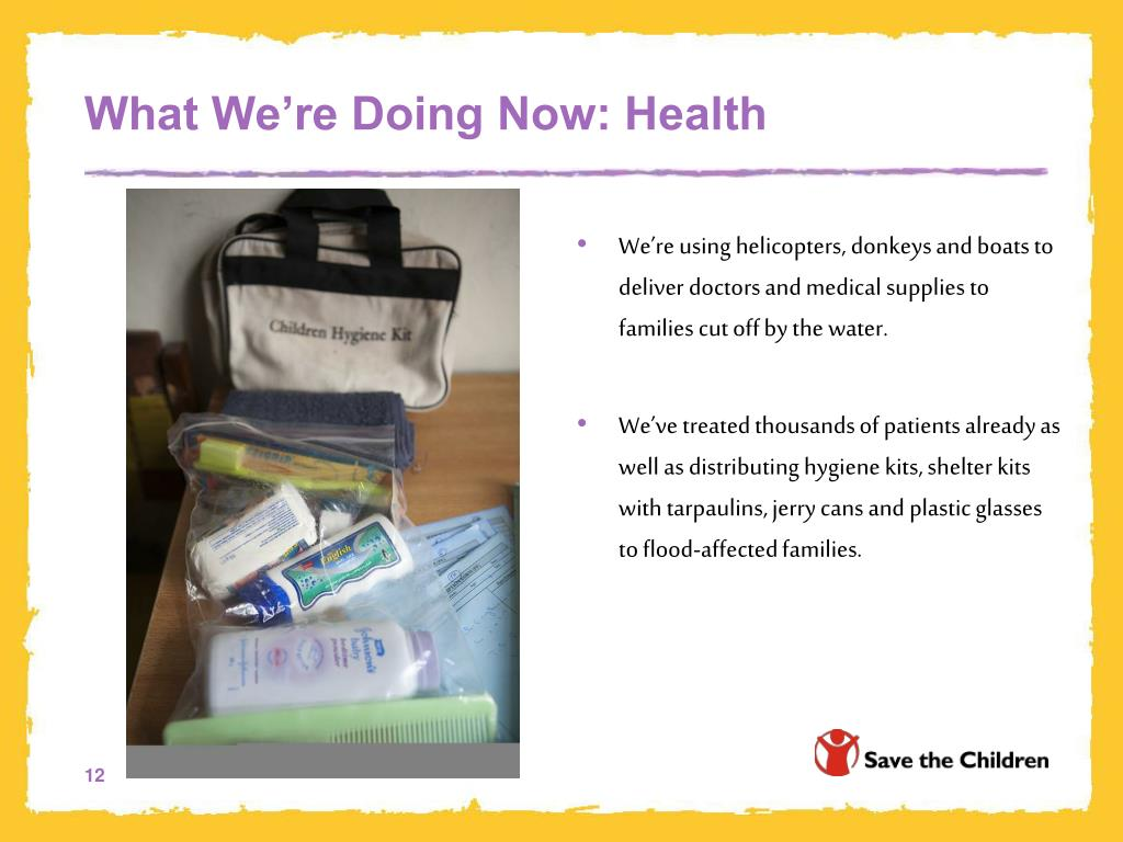 What We're Doing Now: Health