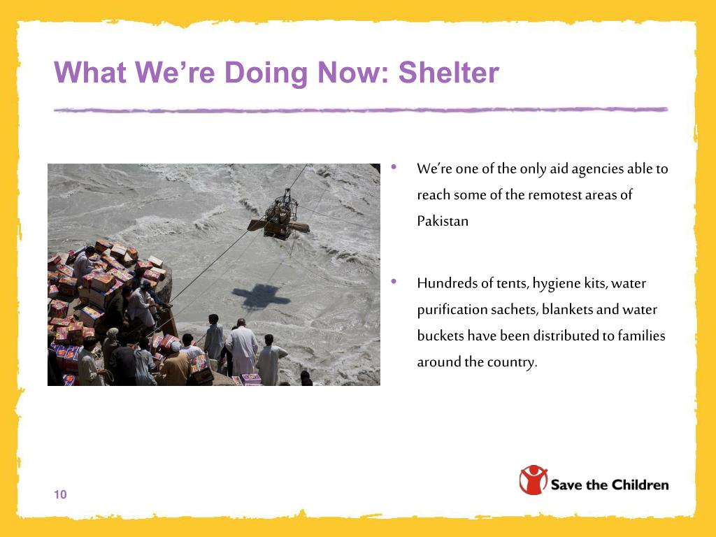 What We're Doing Now: Shelter
