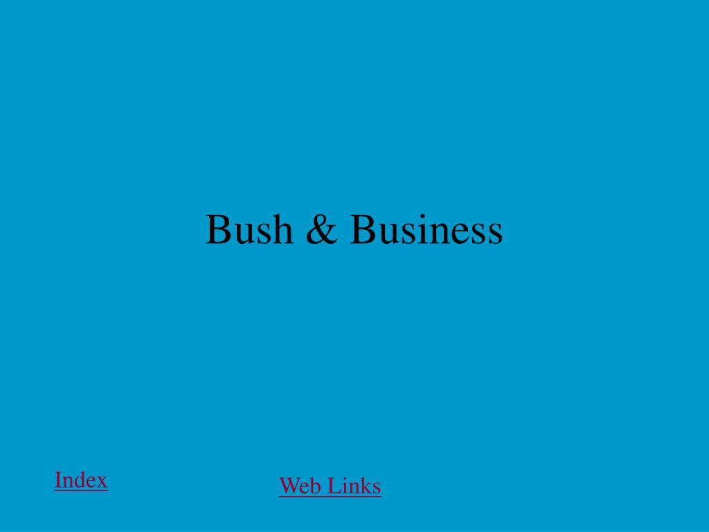 Bush & Business