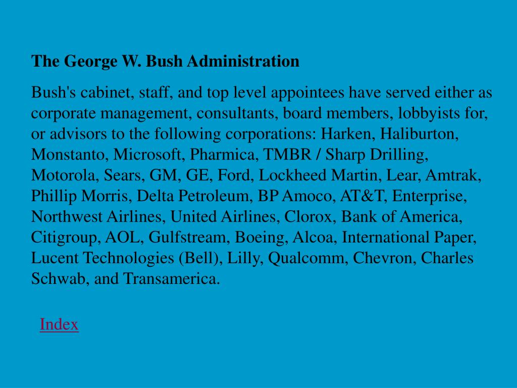 The George W. Bush Administration
