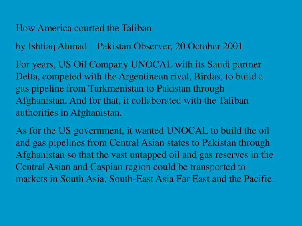 How America courted the Taliban