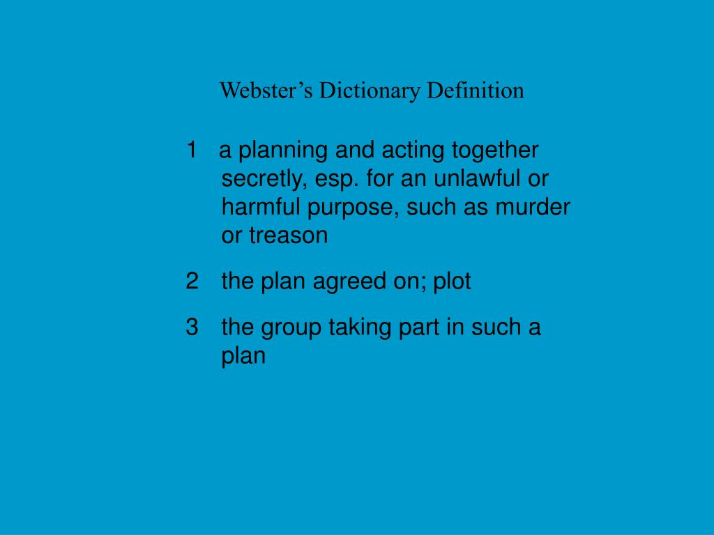 Webster's Dictionary Definition