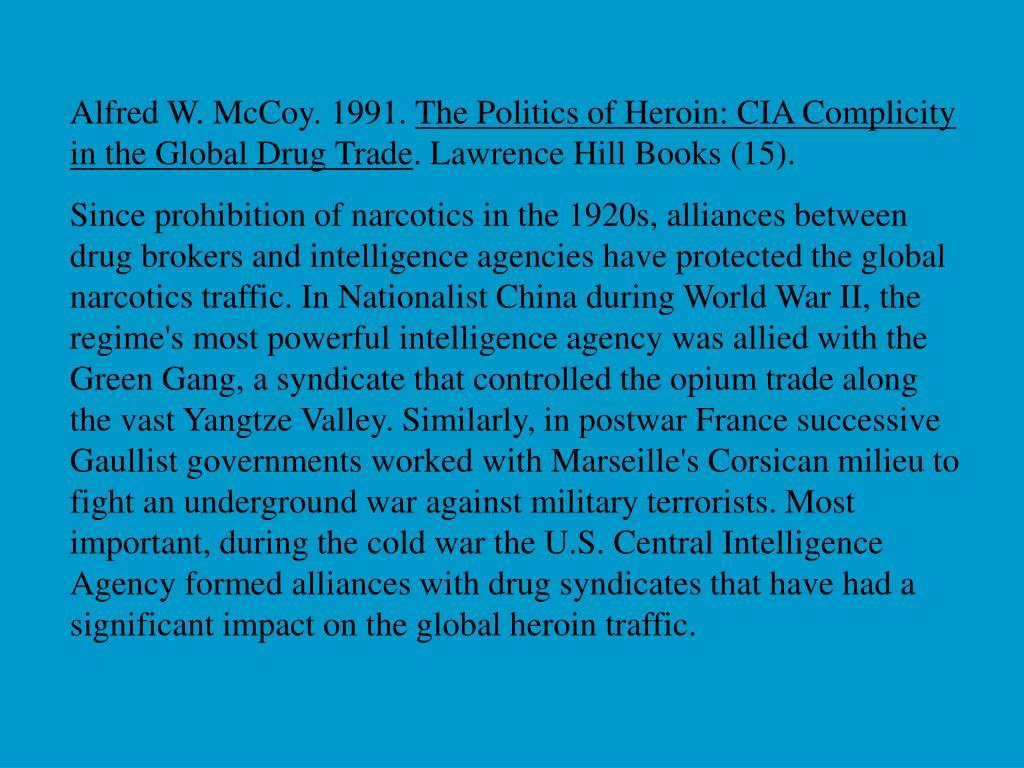 Alfred W. McCoy. 1991.