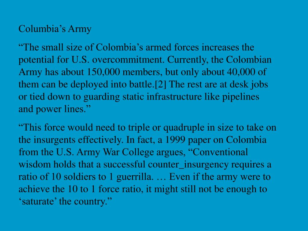 Columbia's Army