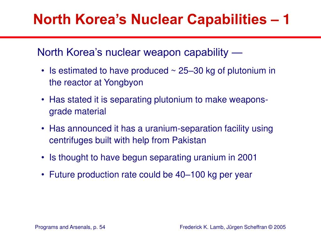 North Korea's Nuclear Capabilities – 1