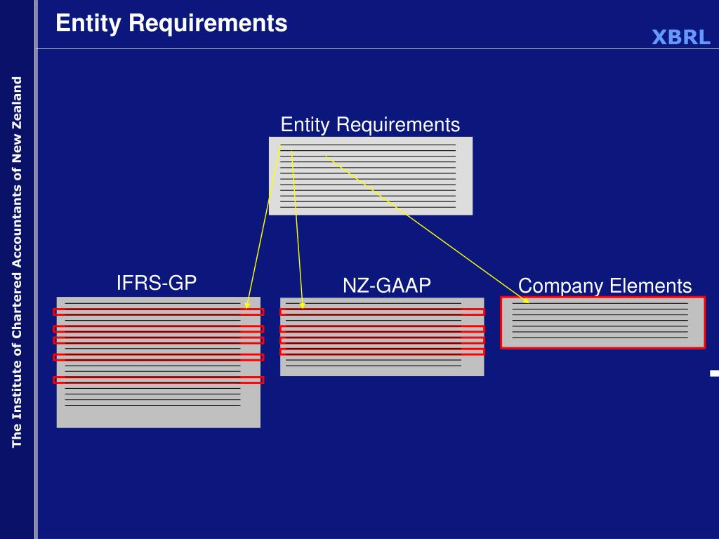 Entity Requirements