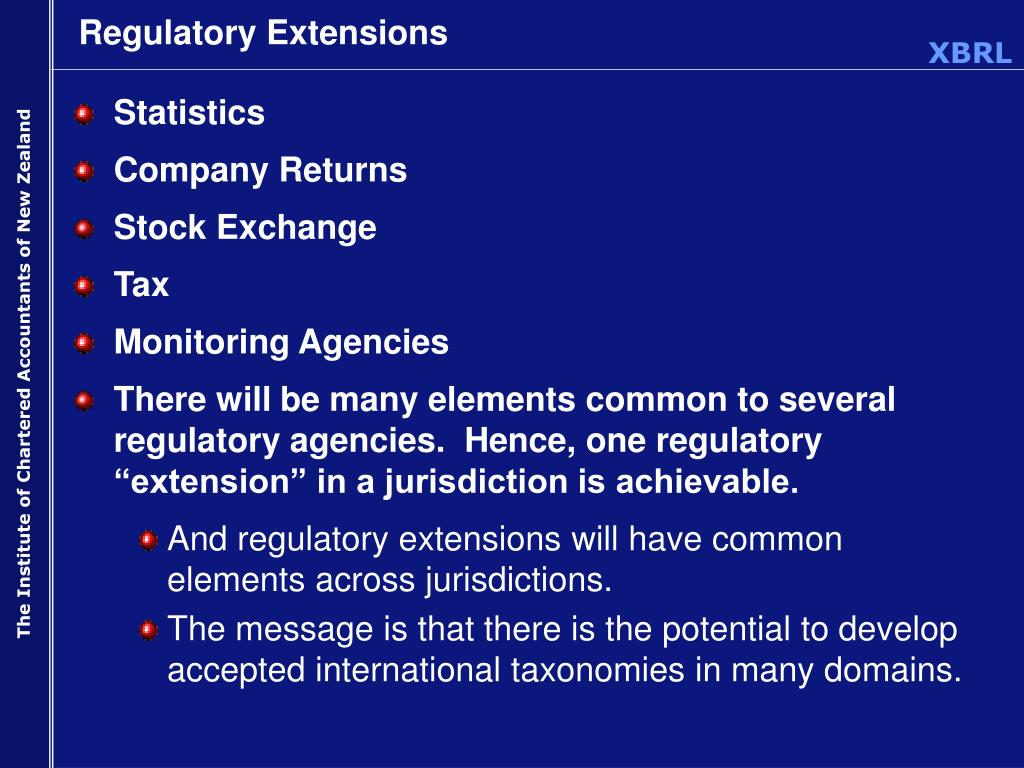 Regulatory Extensions