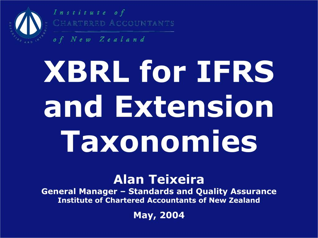 XBRL for IFRS