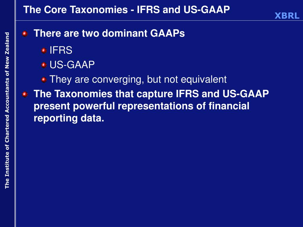 The Core Taxonomies - IFRS and US-GAAP