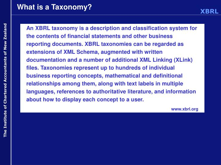 What is a taxonomy