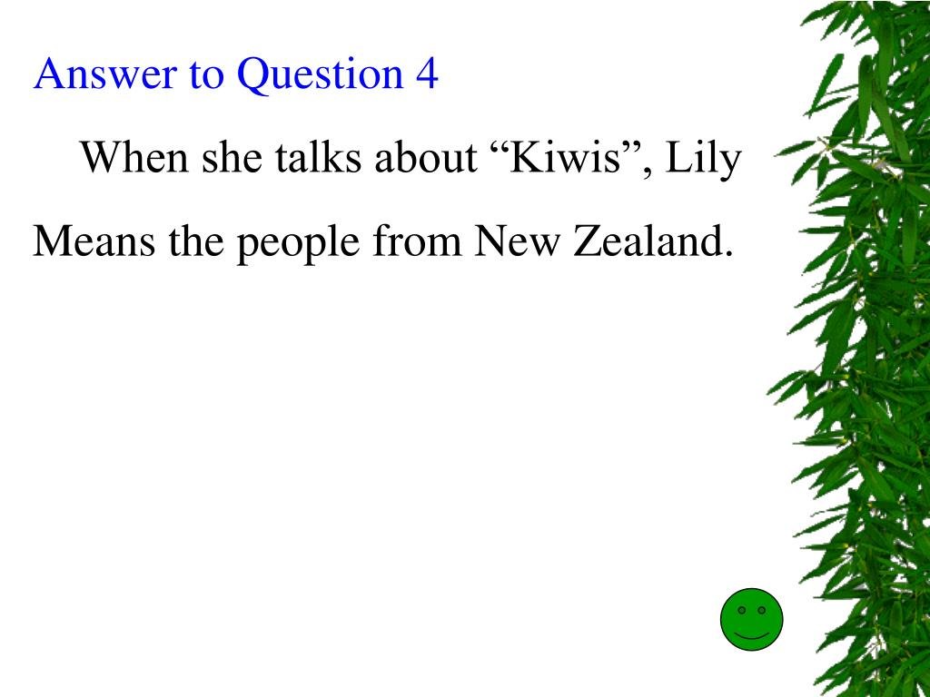 Answer to Question 4