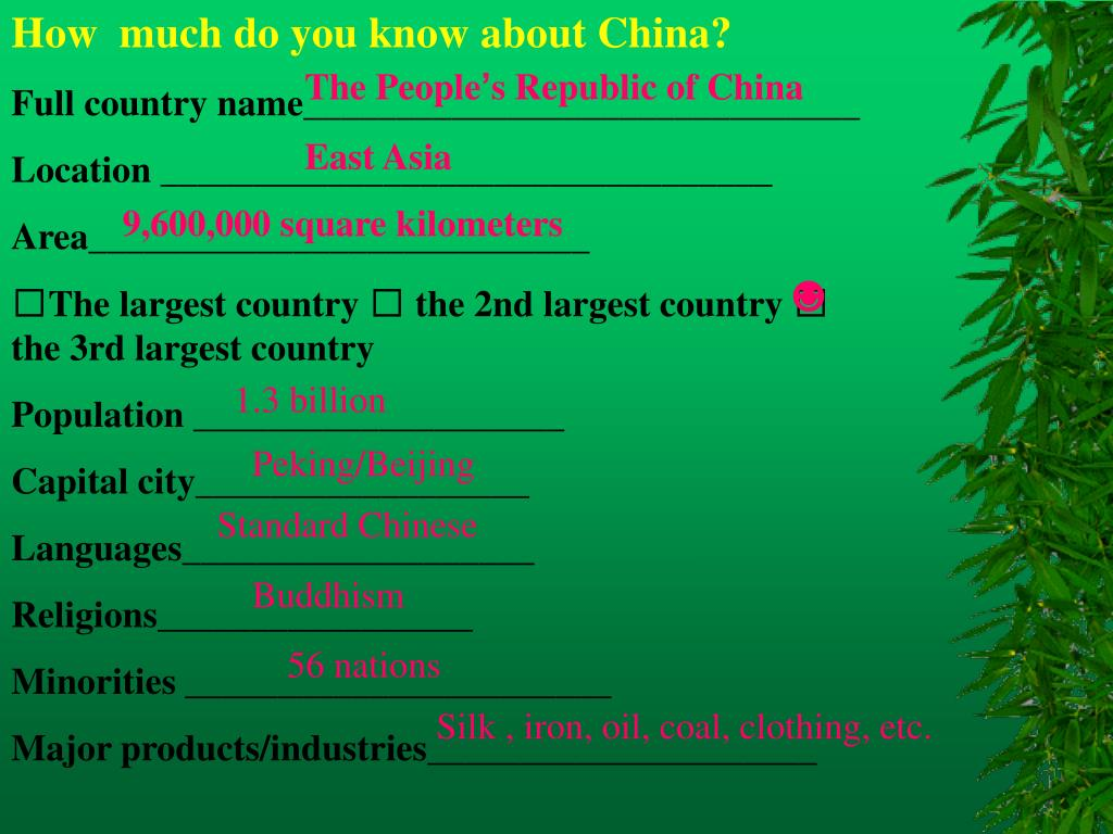 How  much do you know about China?