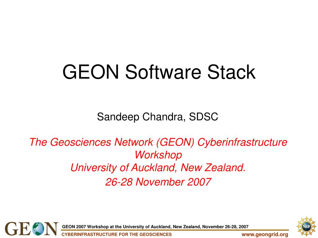 GEON Software Stack