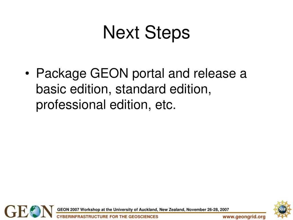 Package GEON portal and release a basic edition, standard edition, professional edition, etc.