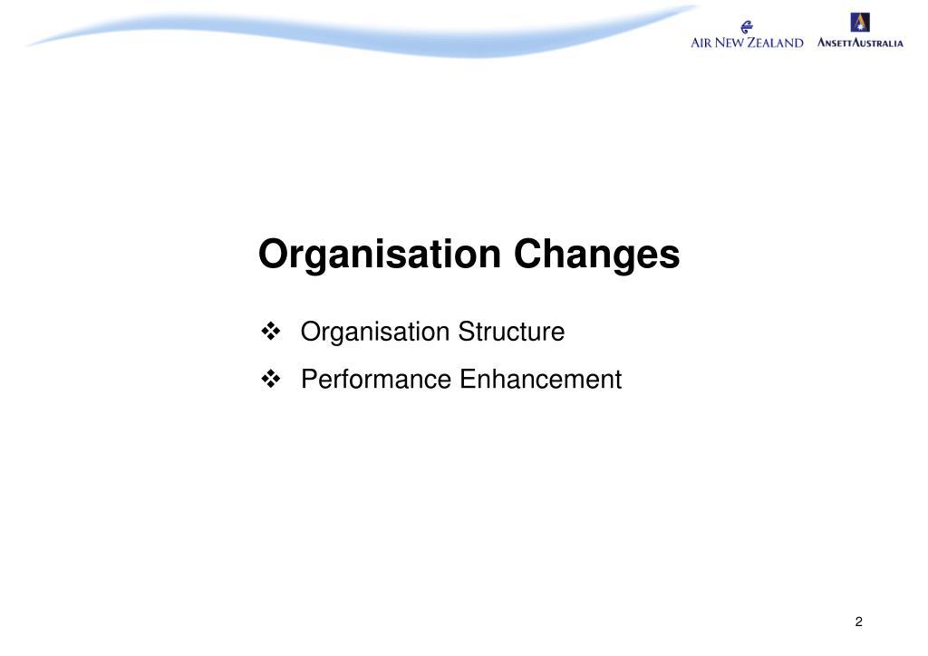 Organisation Changes