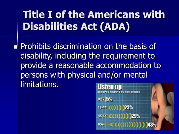 Title I of the Americans with Disabilities Act (ADA)