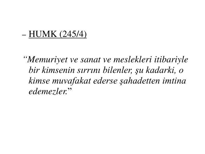 HUMK (245/4)