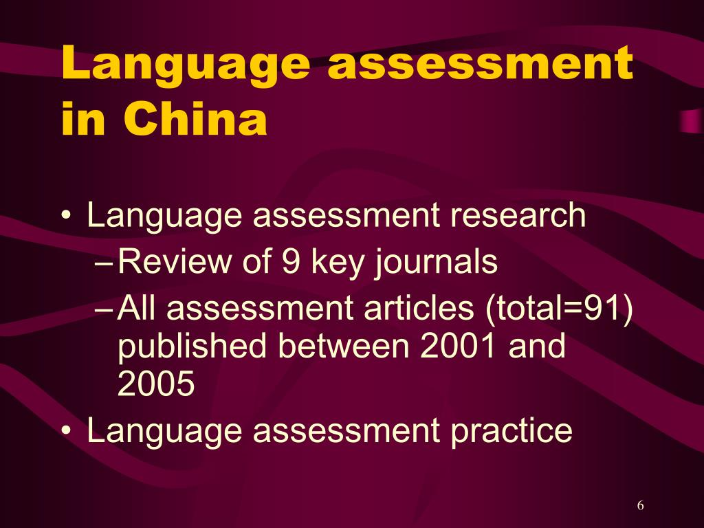 Language assessment in China