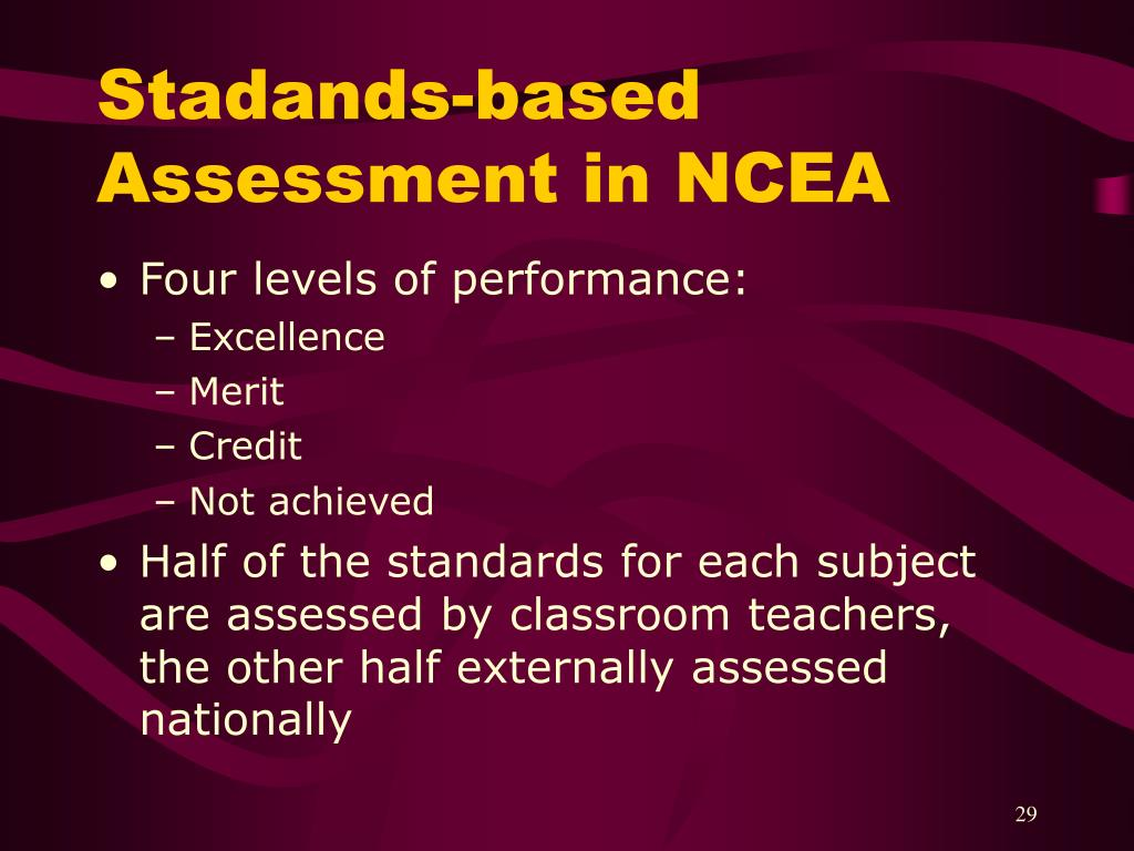 Stadands-based Assessment in NCEA