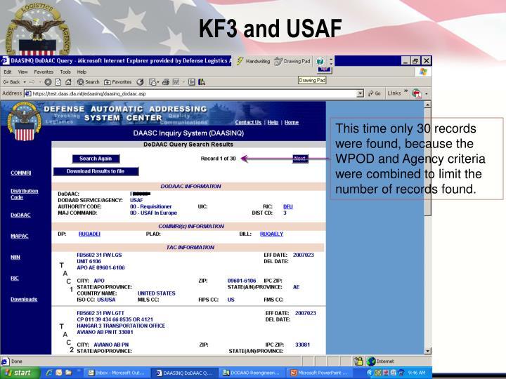 KF3 and USAF