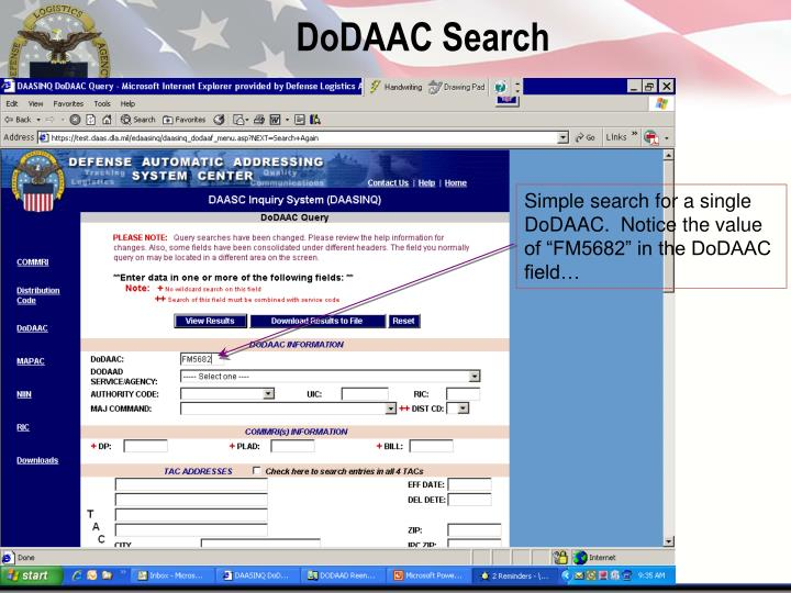 DoDAAC Search