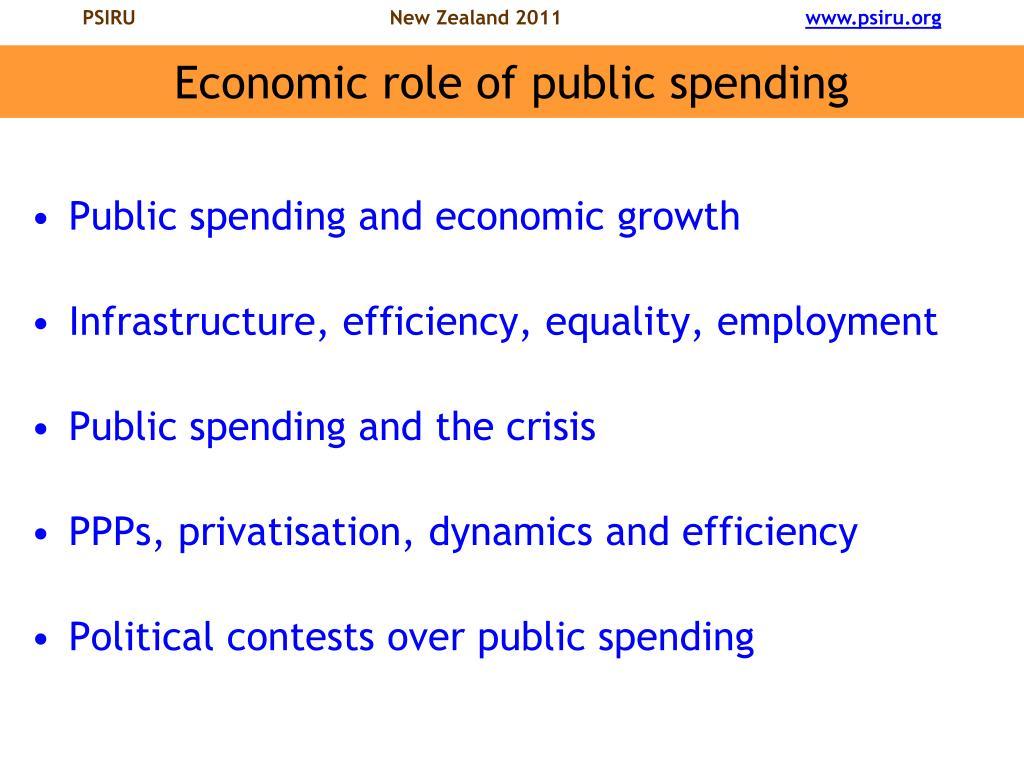 Economic role of public spending