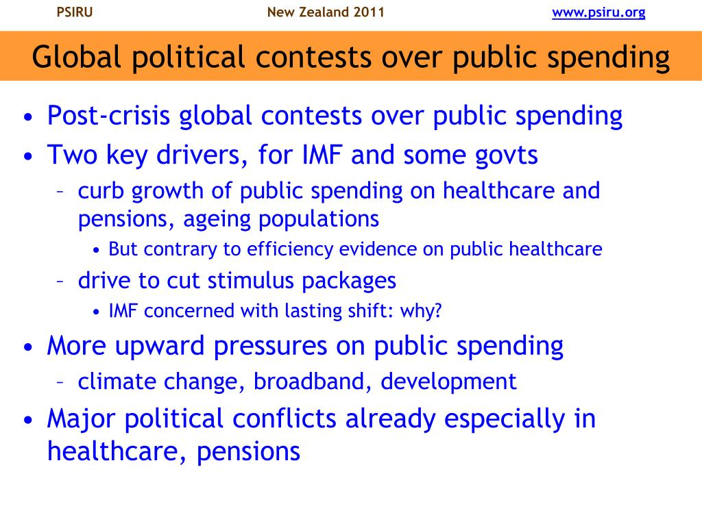 Global political contests over public spending
