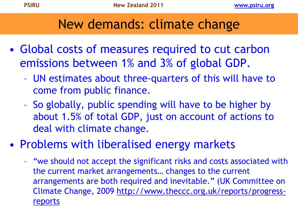 New demands: climate change