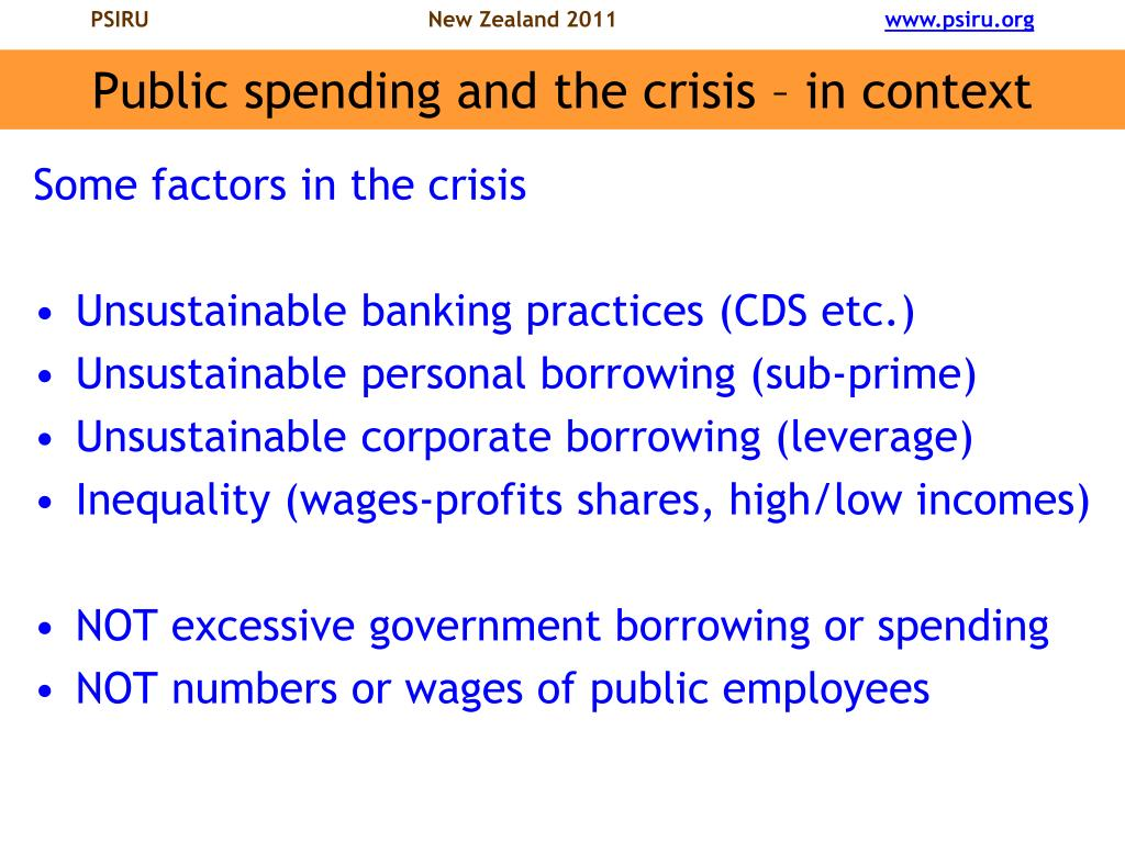 Public spending and the crisis – in context